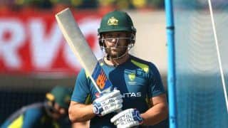 Aaron Finch Substituted After Suffering Blow to Head in Sheffield Shield