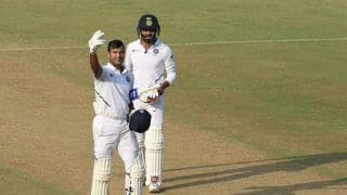 Mayank Agarwal Equals Indian Record For Most Sixes in a Test Innings