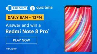 Amazon Quiz Answers 27 November : पांच आसान सवालों का जवाब दें और जीतें Redmi Note 8 Pro