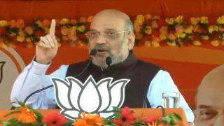 झारखंड में बीजेपी अध्यक्ष अमित शाह ने कहा, अयोध्या में गगनचुंबी राम मंदिर बनेगा