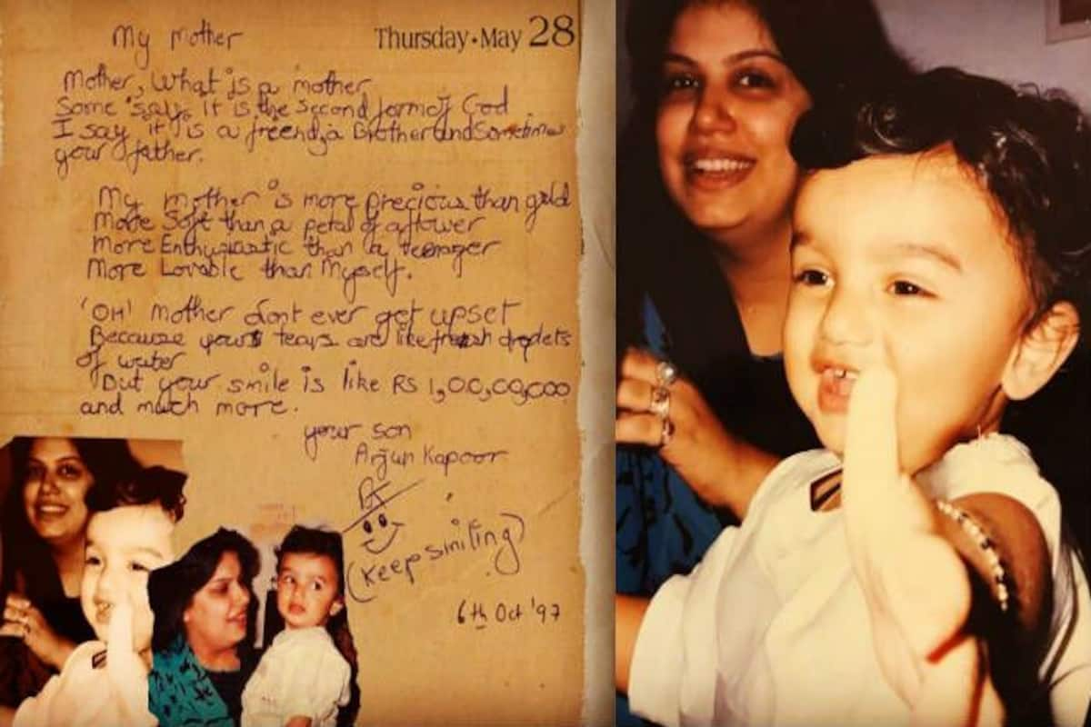 Arjun Kapoor Shares Old Poem That He Wrote To Mom As Kid Beauty
