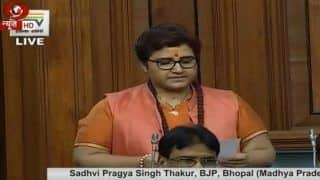 लोकसभा में बीजेपी सांसद प्रज्ञा ठाकुर ने मांगी माफी, विपक्ष ने किया हंगामा