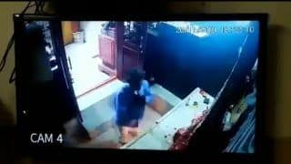 Thief Steals Idol's Crown But Before That Prays With Folded Hands   Watch