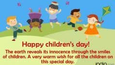 Happy Children's Day 2019: बाल दिवस पर भेजें ये Wishes, Status, Messages, SMS