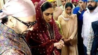 Ranveer Singh And Deepika Padukone Seek Blessings at The Golden Temple on First Wedding Anniversary - Viral Photos