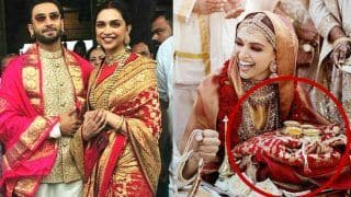 Deepika Padukone's Gorgeous Red Sabyasachi Banarasi Silk Saree is Actually a Wedding Gift From Ranveer Singh's Parents