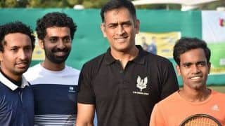 Away From Cricket, MS Dhoni Indulges in a Tennis Tournament Match And Wins it