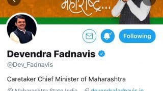 Soon After Resignation, Fadnavis Changes Twitter Bio; Becomes Caretaker CM