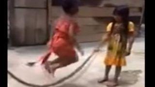 मरे सांप को रस्सी समझकर खेल रही थीं बच्चियां, VIRAL VIDEO देख उड़े लोगों के होश