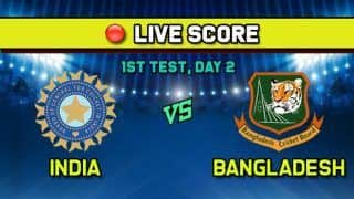 Live Cricket Score India vs Bangladesh, IND vs BAN 1st Test, Day 2