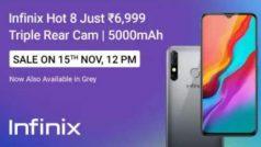 3 बैक कैमरे और 5000mAh बैटरी वाला Infinix Hot 8 अब दो दिन बाद 15 नवंबर को फ्लैश सेल में आएगा, 6,999 रुपये में खरीदें