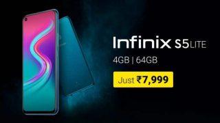 Infinix S5 Lite स्मार्टफोन भारत में 7,999 रुपये में इन खूबियों के साथ होगा लॉन्च