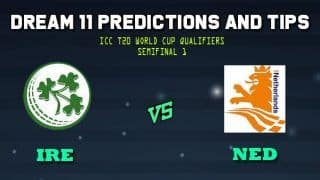 Dream11 Team Ireland vs Netherlands ICC Men's T20 World Cup Qualifier 2019 – Cricket Prediction Tips For Today's T20 Semi-final 1 IRE vs NED at Dubai on November 1