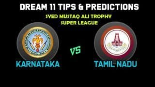 Dream11 Team Prediction Karnataka vs Tamil Nadu: Captain And Vice Captain For Today Super League, A2 vs B1, Syed Mushtaq Ali Trophy 2019 Between KAR vs TN at  Lalbhai Contractor Stadium in Surat 6:30 PM IST November 21
