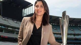 Actor Kareena Kapoor Khan Unveils T20 World Cup Trophies in Melbourne