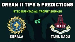 Dream11 Team Prediction Kerala vs Tamil Nadu: Captain And Vice Captain For Today Group B, Round 1, Syed Mushtaq Ali Trophy 2019-20 Between KER vs TN at Trivandrum 9:00 AM IST November 8