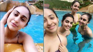Krystle D'souza, Anushka Ranjan, Akansha Ranjan Hit The Pool in Bikinis. See Hot Pics