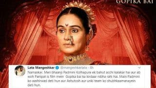 Lata Mangeshkar Sends 'Aashirvaad' to 'Bhaanji' Padmini Kolhapure For Playing Gopika Bai in Arjun Kapoor's Panipat