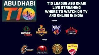 T10 League Abu Dhabi, LIVE Streaming: Teams, Time in IST And Where to Watch on TV And Online in India