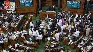 संसद के पहले शीतकालीन सत्र में मचा हंगामा, कांग्रेस और शिवसेना ने किया वॉकआउट