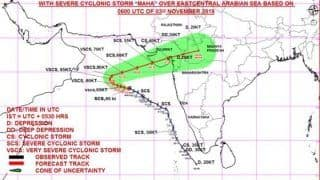 Cyclone Maha to Make Landfall in Gujarat on Novemner 6, Heavy Rainfall Alert Issued in Maharashtra
