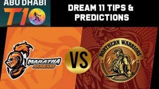 Dream11 Team Prediction Maratha Arabians vs Northern Warriors : Captain And Vice Captain For Today Match 1, Abu Dhabi T10 Premier League Between MAR vs NOR at  Sheikh Zayed Stadium in Abu Dhabi. 6:00 PM IST November 15