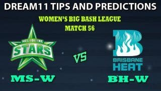 Melbourne Stars Women vs Brisbane Heat Women Dream11 Team Prediction Women's Big Bash League 2019: Captain And Vice-Captain, Fantasy Cricket Tips MS-W vs BH-W Match 56 at Junction Oval, Melbourne 9:30 AM IST