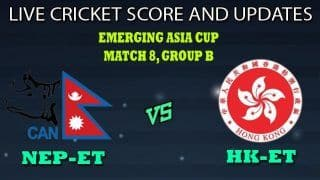 Nepal Emerging Team vs Hong Kong Emerging Team Dream11 Team Prediction Emerging Asia Cup 2019