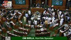 बीपीसीएल के विनिवेश और चुनावी बॉन्ड के मुद्दों पर विपक्ष ने संसद में किया हंगामा