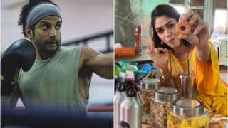 Toofan Star Farhan Akhtar Goes Weak Knees as Co-Star Mrunal Thakur Challenges His Will Power Outside The Ring