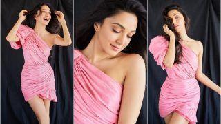 Kiara Advani Sets Temperatures Soaring in Thigh-High Pink Dress at Good Newwz Trailer Launch