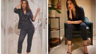 Gauahar Khan Raises Bar For Hotness Quotient as She Slays in Striped Pantsuit in THESE Viral Pictures