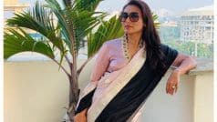 Rani Mukerji Ditches Cop Avatar to Slay in Saree as She Promotes Mardaani 2 in Kolkata, Pictures go Viral