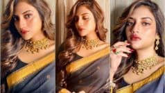 TMC MP Nusrat Jahan's Sultry Saree Look in THESE Pictures is Enough to Make Fans go Weak in Knees