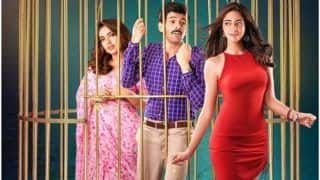 Pati Patni Aur Woh New Poster: Kartik Aaryan Yearns For Ananya Panday While Locked in Cage With Bhumi Pednekar
