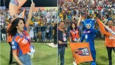 Sunny Raises Hotness on Field, Turns Cheerleader For Delhi Bulls at T-10 league in Abu Dhabi