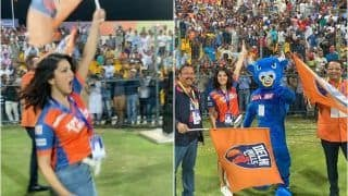 Sunny Leone Raises Hotness Quotient on Field, Turns Cheerleader For Delhi Bulls at T-10 league in Abu Dhabi