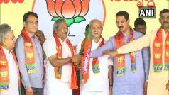 कर्नाटक के अयोग्य घोषित विधायक बीजेपी में हुए शामिल, एक का मामला फंसा