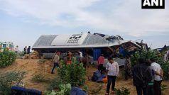 राजस्थान में भीषण हादसा: बस-ट्रक भिड़ंत में 10 की मौत, 20-25 लोग घायल