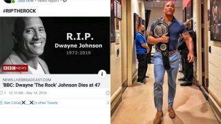 WWE Megastar Dwayne 'The Rock' Johnson Victim of Death Hoax