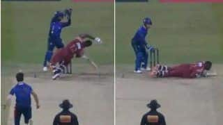 WATCH: Leg-Spinner Qais Ahmed Almost Rips off Andre Russell's Head With a Bouncer in Abu Dhabi T10 League