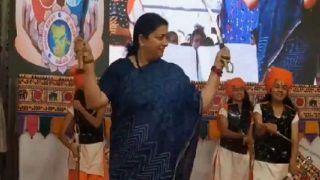 Smriti Irani Performs 'Talwar Raas' in Gujarat's Bhavnagar | Watch Video