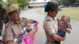 Assam Cops Take Care of Babies While Mothers Appear for TET Exam, Picture Goes Viral