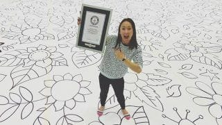 Scottish Artist Creates World's Largest Drawing in 12 Hours, Breaks Guinness World Record