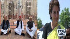 धरने पर बैठे पूर्व सीएम अखिलेश यादव, पीड़िता के परिवार से मिलने प्रियंका गांधी पहुंची उन्नाव