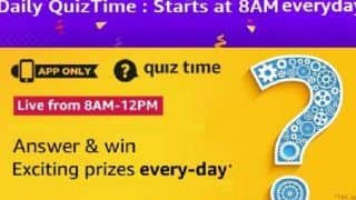 Amazon App Daily Quiz December 27, 2019: Answer Questions And Win Rs 15,000
