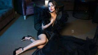 Anita Hassanandani Looks Sultry Hot in Sexy Black Dress For Calendar 2020 Photoshoot