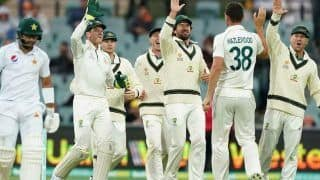 Aus vs pak day night test australia close to inning victory against pakistan despite yasir shah ton