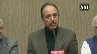 Govt's Stand on Anti-CAA Protests Shows Its Arrogance: Ghulam Nabi Azad After All-party meet