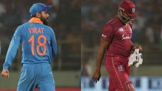 India vs west indies 2nd odi kieron pollard is clueless why virat kohli was animated after his first ball dismissal 3882745
